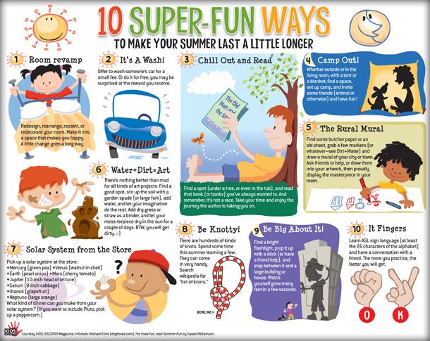 Summer Fun Infotoon | Dogfoose com (Michael Kline)