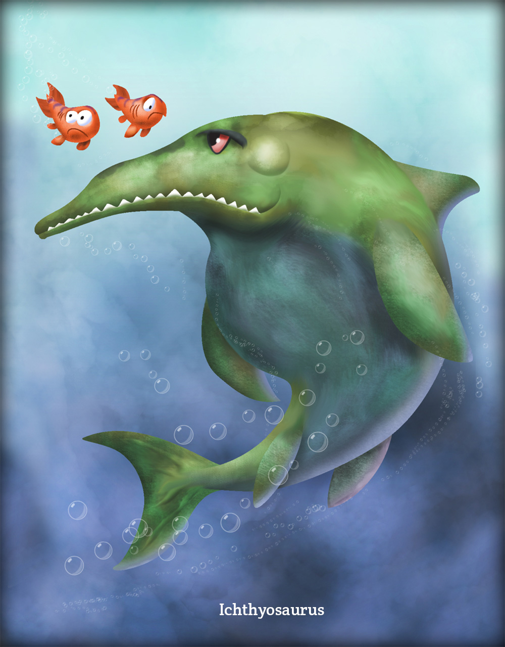Ichthyosaurus1 Ichthyosaurus: Semi Big Reptile in a Very Large Pond